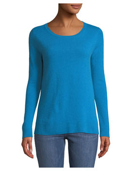 Cashmere Modern Crewneck Sweater by Neiman Marcus Cashmere Collection