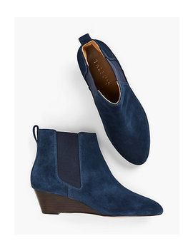 Isabel Wedge Ankle Boots by Talbots
