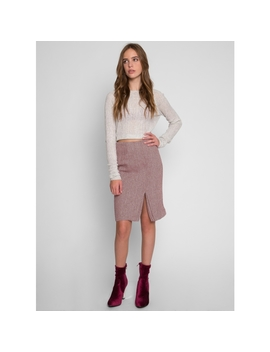 Valerie Herringbone Skirt by Wet Seal