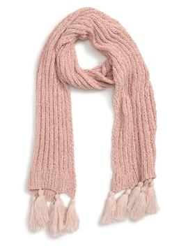 Metallic Tassel Chenille Scarf by Leith