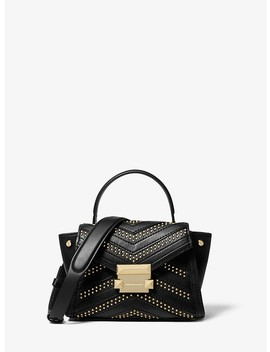 Whitney Mini Studded Leather Satchel by Michael Michael Kors