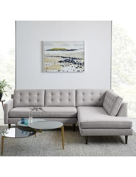 Drake 2 Piece Terminal Chaise Sectional   Platinum (Twill) by West Elm