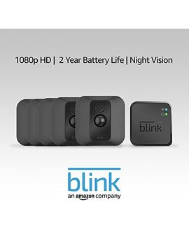 Blink Xt Home Security Camera System With Motion Detection, Wall Mount, Hd Video, 2 Year Battery Life And Cloud Storage Included   5 Camera Kit by Blink Home Security