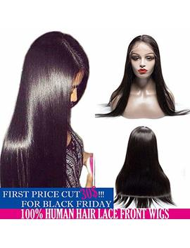 """Lace Front Human Hair Wigs For Black Women Vi Pbeauty 130 Percents Density Virgin Brazilian Straight Human Hair Bleach Knots Pre Plucked Lace Frontal Wigs With Baby Hair (16"""",... by Vi Pbeauty"""