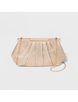 Estee & Lilly Corded Texture Frame Clutch   Gold by Estee & Lilly