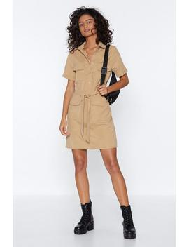 Work Wonders Button Up Mini Dress by Nasty Gal