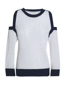 Cold Shoulder Two Tone Pointelle Cotton Sweater by Rag & Bone