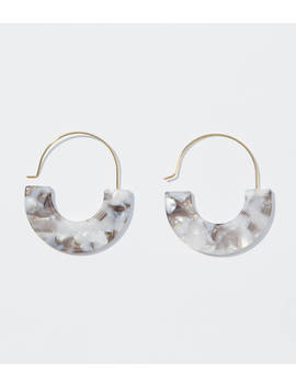 marbleized-pull-through-hoop-earrings by loft