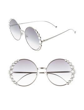 58mm Round Sunglasses by Fendi