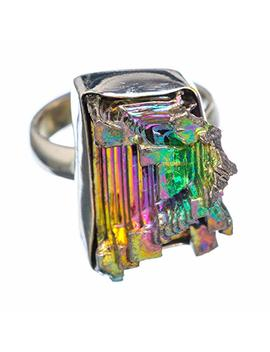 Bismuth Crystal Ring Size 7.5 (925 Sterling Silver)   Handmade Boho Vintage Jewelry Ring924487 by Ana Silver
