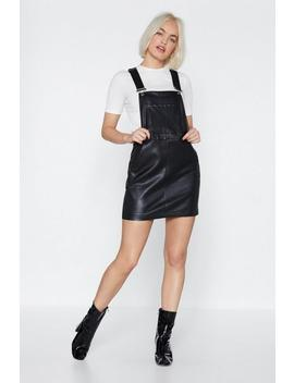 Call It A Night Faux Leather Pinafore Dress by Nasty Gal