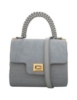 Light Grey Suede Mini Handbag by Lili Radu