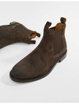 Polo Ralph Lauren Normanton Waxed Suede Chelsea Boots In Brown by Polo Ralph Lauren