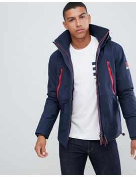 Superdry Hooded Wind Attacker Jacket In Navy by Superdry
