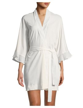 Blake Voile Trim Robe by Skin