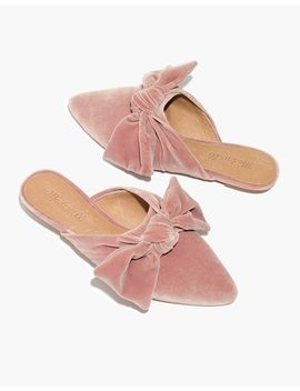 The Remi Bow Mule In Velvet by Madewell