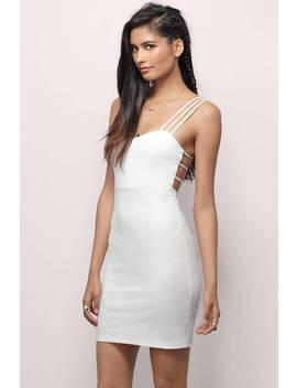 Kenlie Ivory Bodycon Dress by Tobi