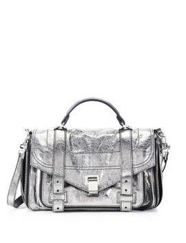 Medium Metallic Leather Shoulder Bag by Proenza Schouler
