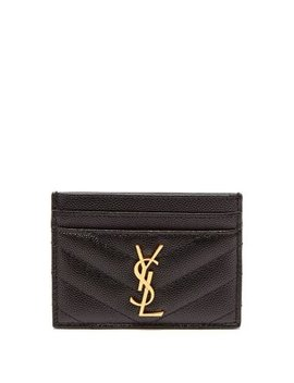 Monogram Quilted Leather Cardholder by Matches Fashion