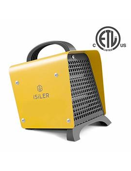 Space Heater, I Si Ler 1500 W Portable Heater With Adjustable Thermostat, Hot & Cool Fan Indoor Ceramic Heater With Overheat Protection, Electric Ptc Heater With Etl Certified For The Home Or Office by I Si Ler