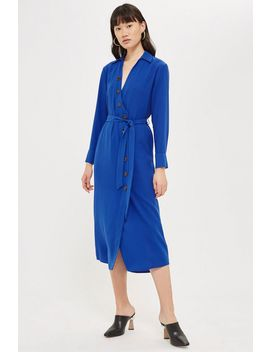 Horn Button Shirt Midi Dress by Topshop