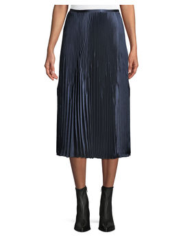Pleated Midi Skirt by Vince