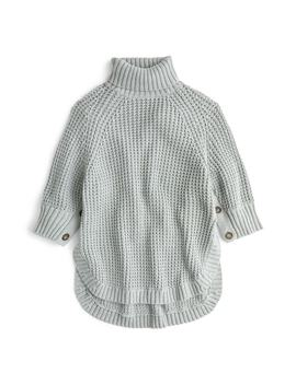 Button Sleeve Turtleneck Poncho by J.Crew