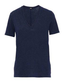 Oversized Slub Cotton Blend Jersey T Shirt by Monrow