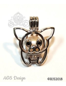 Teacup Pig Pearl Cage Piglet Baby Pig Flying Pig Silver Plated Locket Charm Pua Bead Cage by Etsy