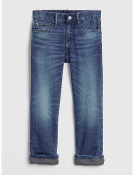 Superdenim Knit Lined Original Jeans With Defendo by Gap