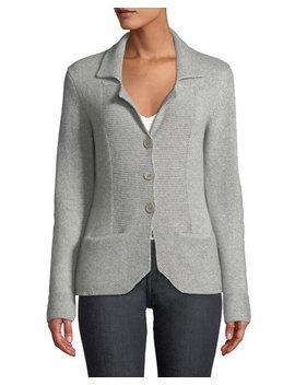 Cashmere Blazer Cardigan, Grey by Neiman Marcus