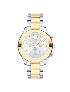 Women's Swiss Chronograph Bold Two Tone Stainless Steel Bracelet Watch 39mm by Movado
