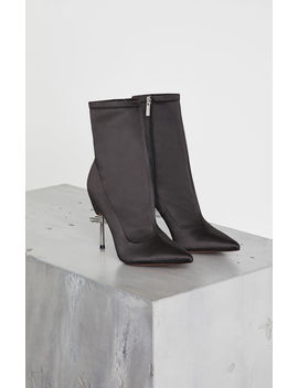 Jolie Satin Stiletto Bootie by Bcbgmaxazria