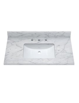 "Sagehill Designs Rw3722 37"" Marble Vanity Top With Undermount Sink by Generic"