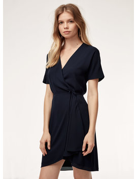 Wallace Dress   Short, Flowy Wrap Dress by Babaton