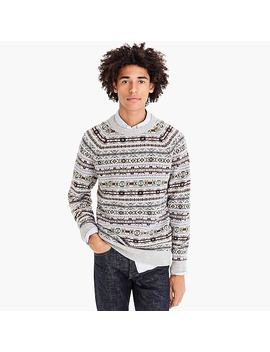 Lambswool Crewneck Sweater In Fair Isle by J.Crew