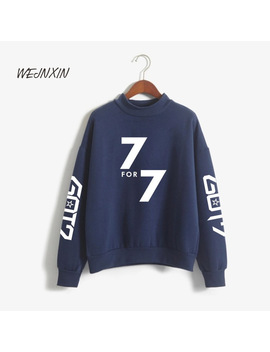 Wejnxin Got7 7 For 7 Turtleneck Pullovers Capless Hoodies Women Men Unisex Streetwear Jackson Jr Sweatshirt Jb Jin Young Clothing by Wejnxin