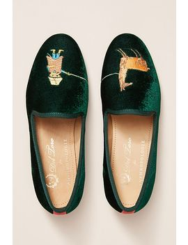 Del Toro Velvet Llama Flats by Anthropologie