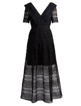 Spiral Lace Midi Dress by Matches Fashion