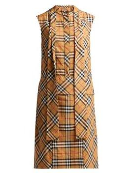 Luna House Check Sleeveless Cotton Dress by Matches Fashion