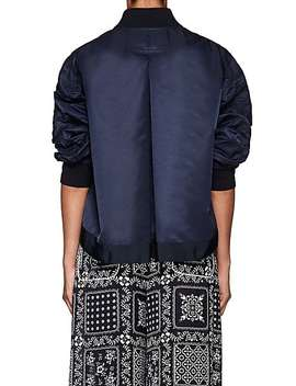 Pleat Back Bomber Jacket by Sacai