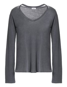 Cutout Supima Cotton Jersey Top by Splendid