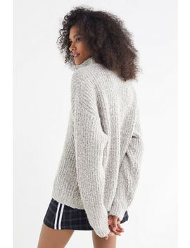 Uo Fisherman Oversized Quarter Zip Sweater by Urban Outfitters
