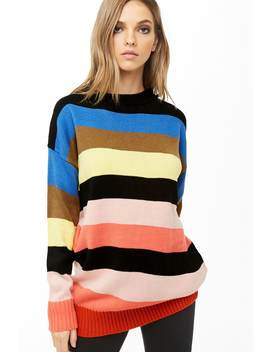 Multicolor Striped Sweater by Forever 21