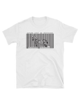 Nature Can't Be Restocked Barcode Zebra Short Sleeve Unisex T Shirt S 3 X Vegan Agriculture Vegetarian Future by Etsy