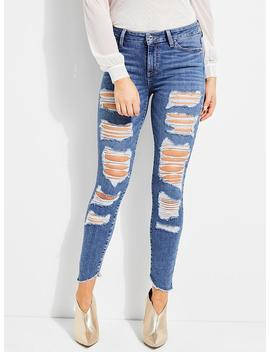 It Girl Warp Twill Straight Jeans by Guess