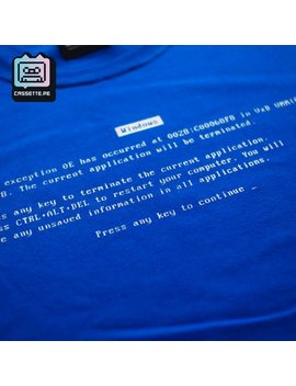 Blue Screen Of Death Shirt by Etsy