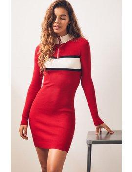 La Hearts Zip Colorblock Sweater Dress by Pacsun