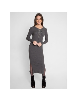 Cannon Knit Midi Dress by Wet Seal