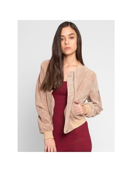 All Night Corduroy Bomber Jacket by Wet Seal